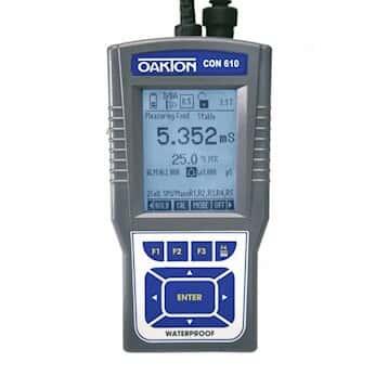 Oakton CON 610 Waterproof Con/TDS/Res/Sal/Temp Meter w/ Probe