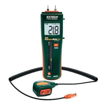 Extech MO265 Pocket Moisture Meter with Pin/Pinless Combination with External Probe