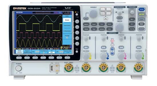 GW Instek GDS-3504 Oscilloscope, 4 Channel, 500 MHz