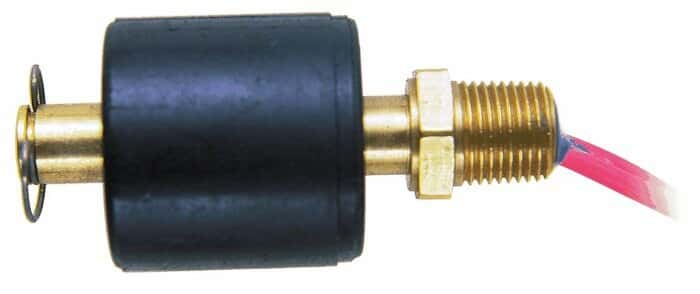 Gems Standard float switch; brass, 1/8