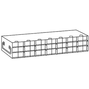 Argos Technologies PolarSafe® Upright Freezer Drawer Rack for 50-Cell Hinged Top Plastic Boxes, 7 x 3 Array