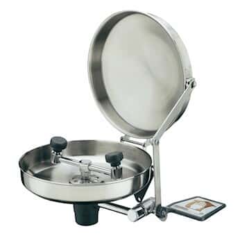 Guardian Equipment G1814BC Wall Mount Eye Wash, Stainless Steel bowl with cover