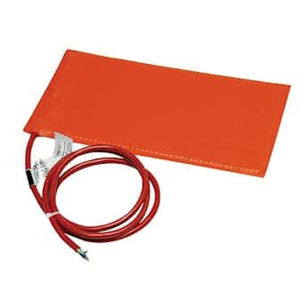BriskHeat SRP24362P Silicone Heating Blanket with Adhesive, for Plastic, 12x36