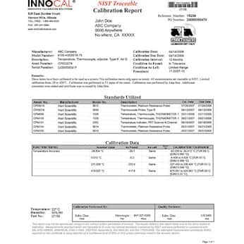 InnoCal NIST-Traceable Calibration; Calibration Weight/Mass Set, 20 to 50 g; ASTM 4-7, Class F
