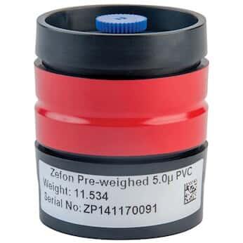 Zefon Cassette, 37 mm, 4 Piece, 5.0 µm, PVC Preweighed, CF, FTIR; 10/BX