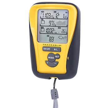 Traceable Digital Handheld Environmental Monitor with Stopwatch and Calibration