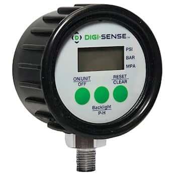 Digi-Sense Digital Pressure Gauge, 0 to 100 psi, 2.5