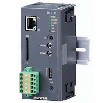M-System DL8 Web-Enabled Recorder, Modbus/TCP, FTP, e-mail, data logging