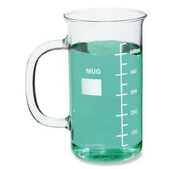 DWK Life Sciences (Kimble) CPMUG600 Beaker Mug, glass, 20 ounce, graduated, 1/pk