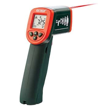 Extech IR267 High Temperature Infrared Thermometer -58 to 1112F (-50 to 600C) with Type K Input (D:S 12:1)