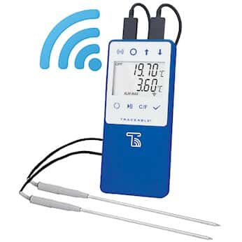 Traceable Wi-Fi Data Logging Refrigerator/Freezer Thermometer Compatible with TraceableLIVE® Cloud Service; 2 SS Probes