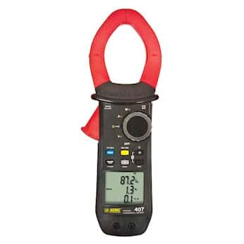 AEMC 407 Clamp Meter, 1000 AC, 1500 A DC with Bluetooth capability