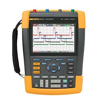 Fluke 190-202/S Oscilloscope, Handheld, 2-Channel, 200 MHz, color, w/SCC290 Kit