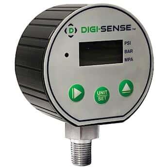 Digi-Sense Digital Pressure Gauge with Transmitter, 0 to 30 psig, 4/20 mA Output, 4-Digit LCD