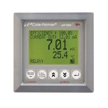 Cole-Parmer 500 PH 550 pH/Temperature 1/4-DIN Controller