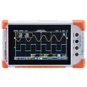 GW Instek GDS-210 Portable Digital Oscilloscope with 5,000 Count DMM, 100 MHz, 2 channel