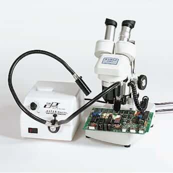 Cole-Parmer Microscopy Fiber Optic Illuminator w/Dual Gooseneck; 230 VAC