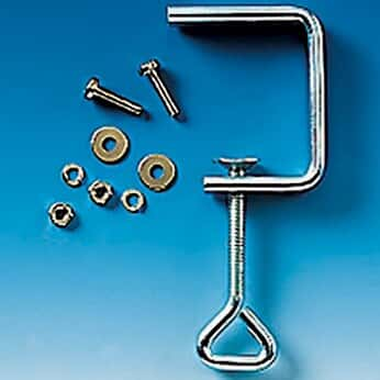 BrandTech 704272 Table/Shelf Clamp for Wall Mounting Unit, Remote Dispensing System; 1/EA