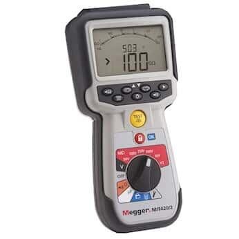 Megger MIT420/2 Insulation Tester, CAT IV, PI and DAR, Data Logging