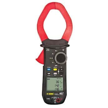 AEMC 607 Clamp Meter, 2000 AC, 3000 A DC with Bluetooth capability
