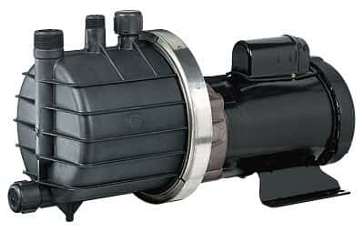 Chemical-Duty Transfer Pump with Glass-Filled PP Head, Self-Priming, 53 GPM max flow