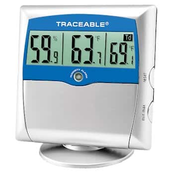 Traceable Digital Thermohygrometer with Dew Point and Calibration