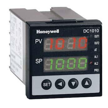 Honeywell DC1010CT-302-000-E Temperature Controller, TC, 1/16-DIN, Current Output, 2 alarms