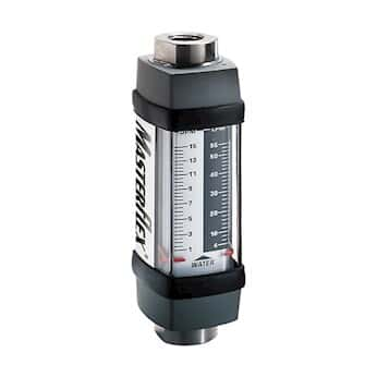 Masterflex Variable-Area Flowmeter, Direct Reading, Dual-Scale, 303 SS Housing, 10 GPM Water