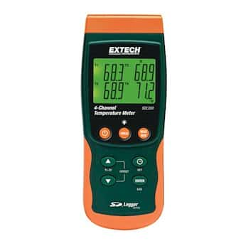 Extech SDL200 4-Channel Datalogging Thermometer with Sd Card Memory