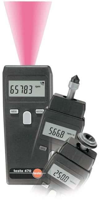 Testo 0563 0470 470 Dual Function Contact/Noncontact Tachometer