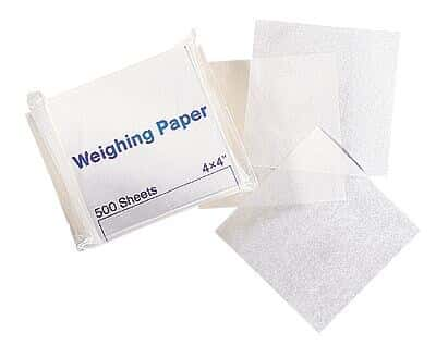 Cole-Parmer Glassine Weighing Paper, Medium, 4 x 4