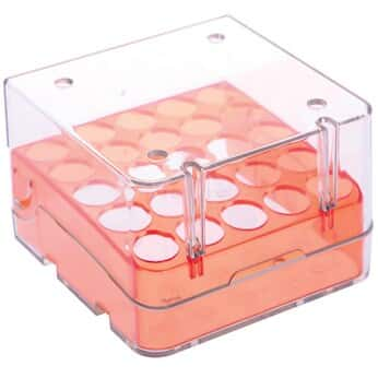 Argos Technologies Magne-Box™ Magnetic Polycarbonate Cryo-Boxes, 25-Place, Orange, 3 x 3 x 2 1/16