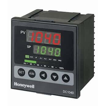 Honeywell DC1040CT-102-00B-E Temperature Controller, TC, 1/4-DIN, Relay Output, 2 alarms, RS485
