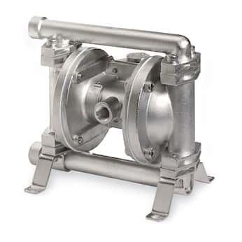 Warren Rupp E02B4SYSSN000 Air-Powered Double-Diaphragm 316 SS Pump, PTFE; 4.4 GPM