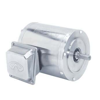 Stainless Steel NEMA Type C-face Rigid Base Three-phase Motor, 1/2 Hp, 1800 RPM