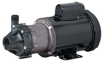 Chemical-Duty Transfer Pump with Carbon-Filled Head, 38 GPM max flow