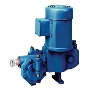 Neptune 532-E-N5 Hydraulically Actuated Diaphragm Pump, PVC and PTFE Wetted End, 11.0GPH @ 150PSI