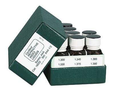 Cargille 18062 Refractive Index Standard Solution, 1.400 to 1.456; 7.4 mL x 15 liquids