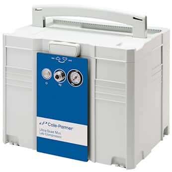 Cole-Parmer Ultra-Quiet 77 LPM, 54 dB, Mini Lab Compressor