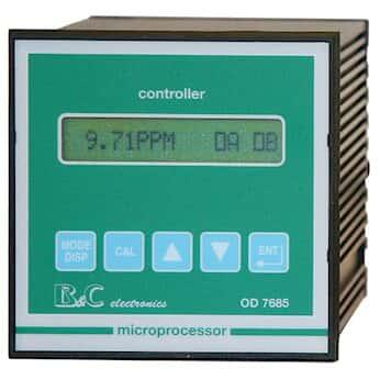 Optical Dissolved Oxygen Controller, 1/4-DIN, 110/220 VAC