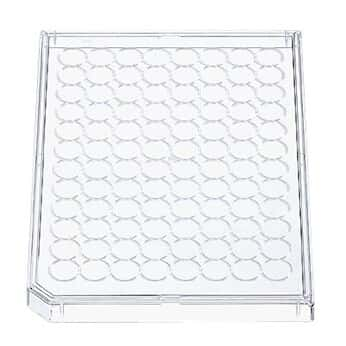 Corning 3930 Polystyrene lids, Corner-notch, 100/cs