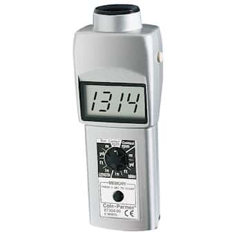 Cole-Parmer Convertible Laser Tachometer with LCD Display