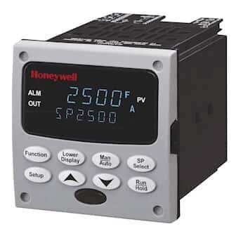 Honeywell DC2500-E0-0B00-200-00000-00-0 1/4-DIN Temperature Controller, Universal; Set Pt/Relay