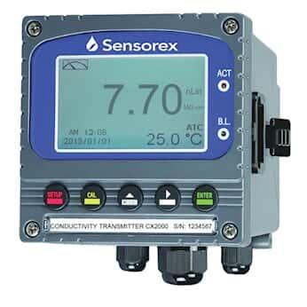 Sensorex CX2000 Contacting Conductivity Transmitter/Controller, 1/4 DIN