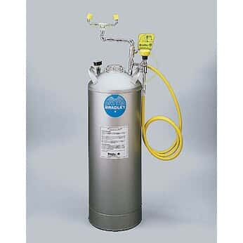 Bradley S19-788 Portable Pressurized Eyewash with Drench Hose, 15 gallon