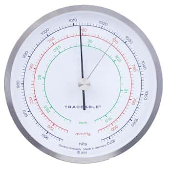 Traceable Three-Scale Dial Barometer with Calibration; mbar/
