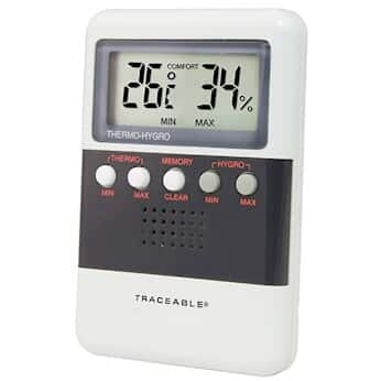 Traceable Thermohygrometer with Memory and Calibration