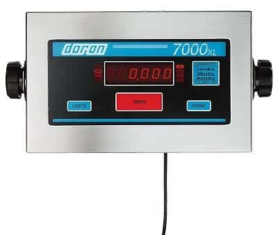 Doran Scale 8100XL/12-230VAC Washdown Industrial Scale, 100lb/45kg, 230 V