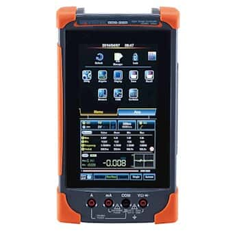 GW Instek GDS-307 Portable Digital Oscilloscope with 50,000 Count DMM, 70 MHz, 2 channel