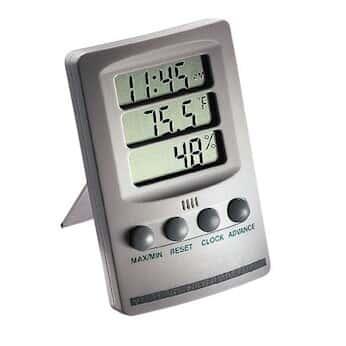 Extech 445702 温湿计时钟, 10 至 85% 相对湿度, 14 至 140F